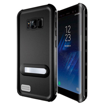KSIX Aqua Samsung Galaxy S8 Waterproof Stand Case - Black