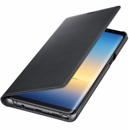 Official Samsung Galaxy Note 8 Led View Cover Case Black