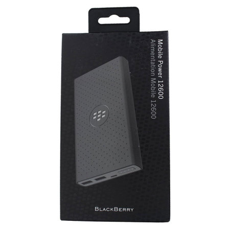 BlackBerry Mobile Power MP-12600 12,600mAh Power Bank - Black