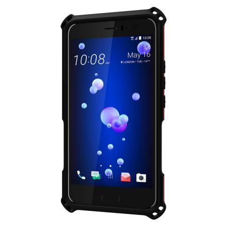 Seidio Dilex HTC U11 Tough Kickstand Case - Dark Red / Black