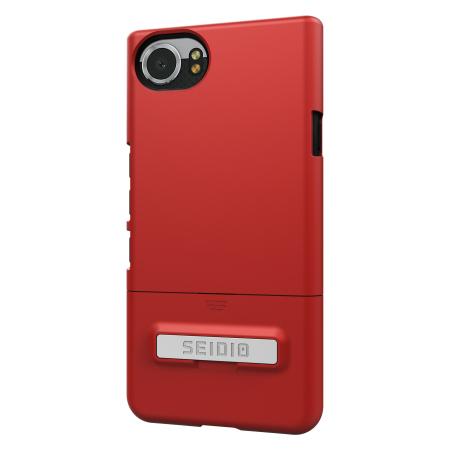 Seidio SURFACE BlackBerry KEYone Case & Metal Kickstand - Red / Grey
