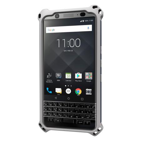 coque blackberry keyone seidio dilex avec kickstand bleu gris. Black Bedroom Furniture Sets. Home Design Ideas