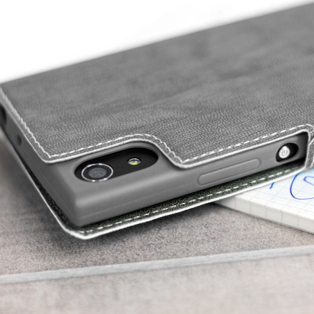 Olixar Low Profile Sony Xperia XA1 Ultra Wallet Case - Grey