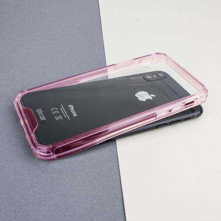 olixar exoshield tough snap on iphone x case   rose gold