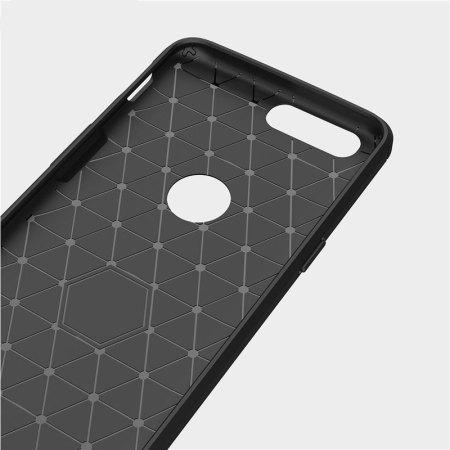 Olixar OnePlus 5 Carbon Fibre Slim Case - Black