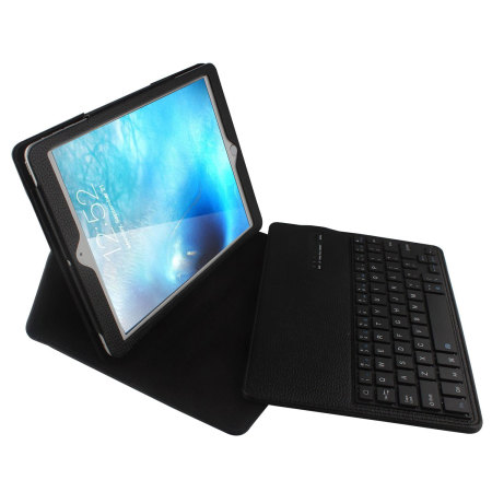Leather-Style iPad 2017 / Pro 9.7 / Air 2 / Air Keyboard Case - Black