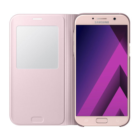 Official Samsung Galaxy A7 2017 S View Premium Cover Case - Pink