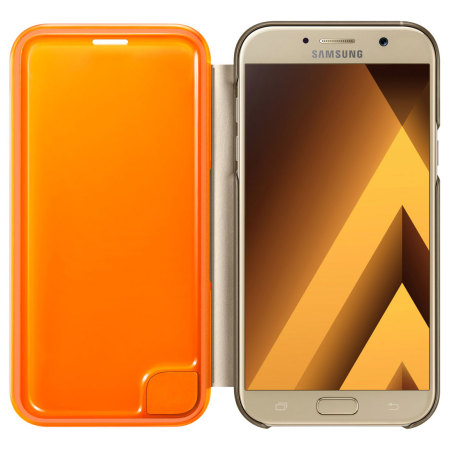 Official Samsung Galaxy A7 2017 Neon Flip Cover - Gold