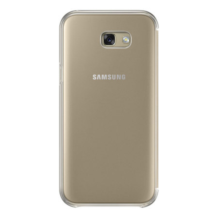 Official Samsung Galaxy A7 2017 Clear View Stand Cover Case - Gold
