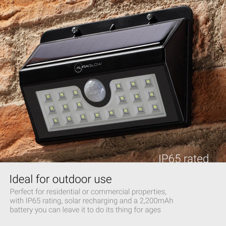 AGL 20 LED PIR Motion Sensor Wireless Solar Security Light - Twin Pack