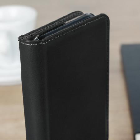 Olixar Genuine Leather LG V30 Executive Wallet Case - Black
