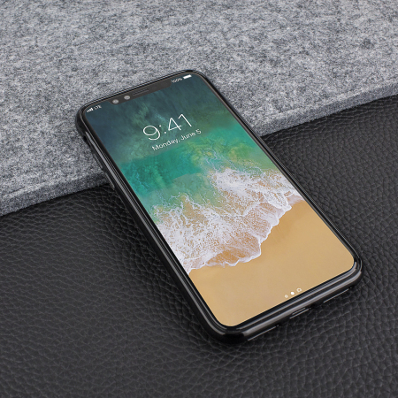 FlexiShield iPhone X Gel Hülle in Jet schwarz