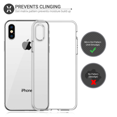 Coque iPhone X Olixar Ultra Mince en gel – 100% Transparente