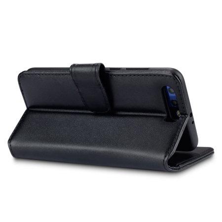 Olixar Genuine Leather Huawei Honor 9 Plånboksfodral - Svart