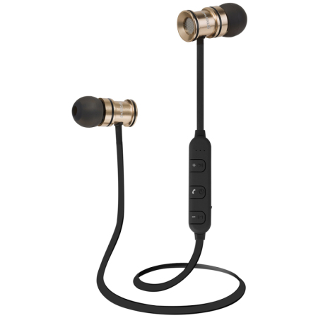 Groov-e Bullet Buds Metal Wireless Earphones with Mic - Gold