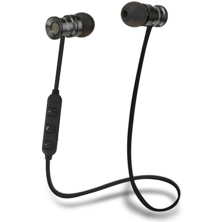 Groov-e Bullet Buds Metal Wireless Earphones with Mic -Silver