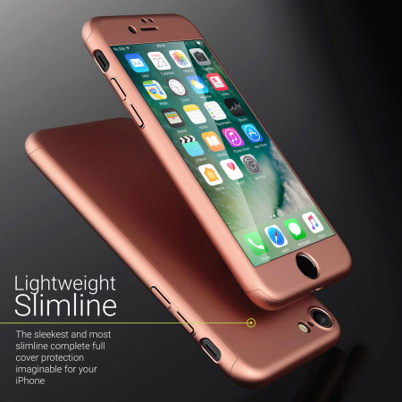Olixar X-Trio Full Cover iPhone 8 Case - Rose Gold
