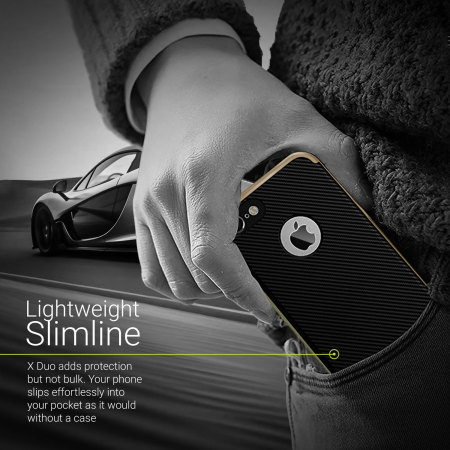Olixar XDuo iPhone 8 Case - Carbon Fibre Gold