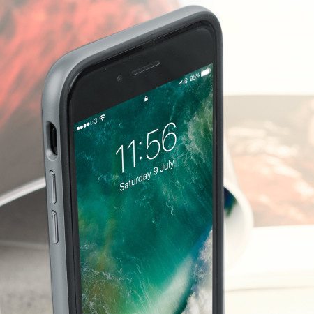 olixar xduo iphone 8 case - carbon fibre metallic grey