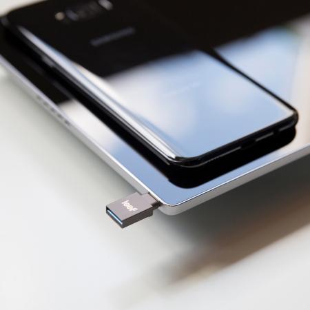 Leef Bridge-C 128GB Dual USB-C / USB Mobile Storage Drive - Silver