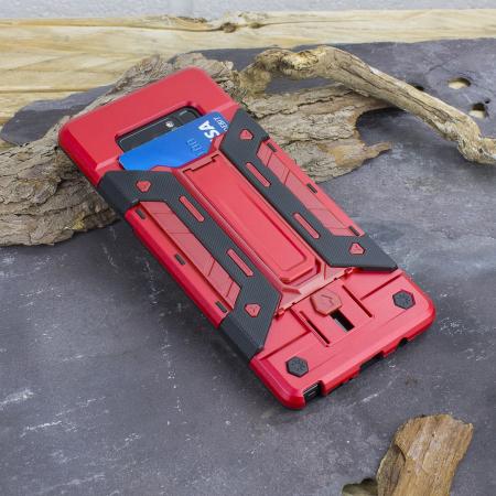 Olixar X-Trex Galaxy Note 8 Rugged Card Kickstand Case - Red