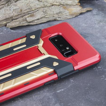 Olixar X-Trex Galaxy Note 8 Rugged Card Kickstand Case - Red / Gold
