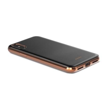 moshi iglaze iphone x ultra slim case - armour black