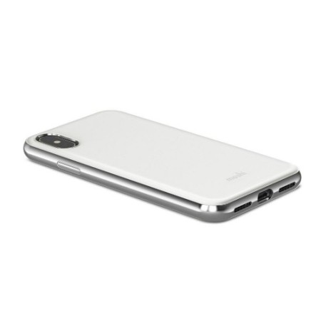 moshi iglaze iphone x ultra slim case - pearl white