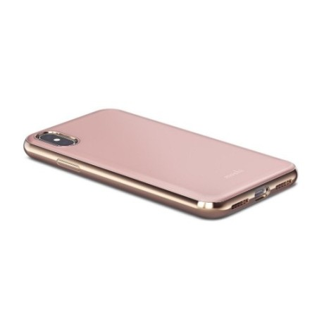 moshi iglaze iphone x ultra slim case - taupe pink