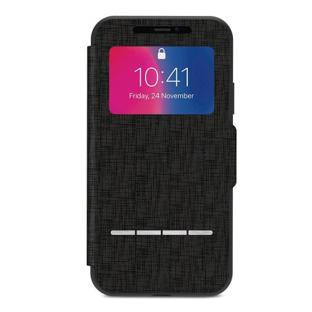 moshi sensecover iphone x smart case - metro black