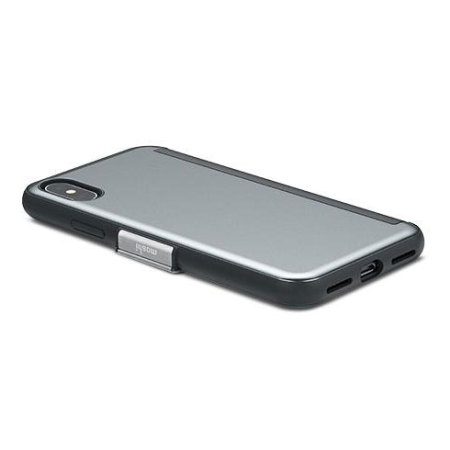 Moshi StealthCover iPhone X Clear View Folio Smart Case - Gunmetal