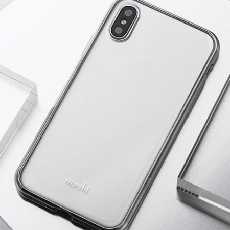 moshi vitros iphone x slim case - jet silver