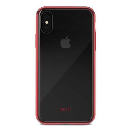 moshi vitros iphone x slim case - crimson red