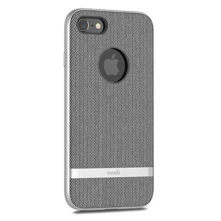 moshi vesta iphone 8 textile pattern case - herringbone grey