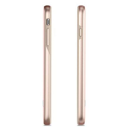 Moshi Vesta iPhone 8 Plus Textilmuster Hülle - Blüte Rosa
