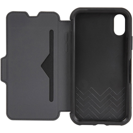 best authentic 4597e 7933e OtterBox Strada Folio iPhone X Leather Wallet Case - Black