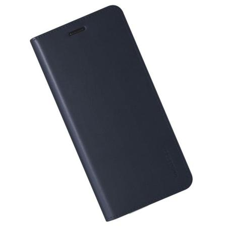 VRS Design Genuine Leather Diary Samsung Galaxy Note 8 Case - Navy