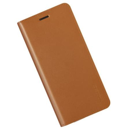 VRS Design Genuine Leather Diary Samsung Galaxy Note 8 Case - Brown