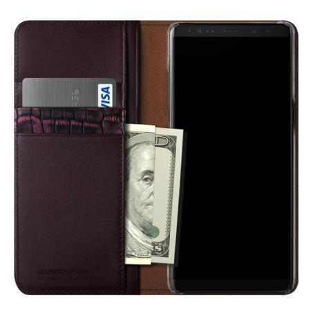VRS Design Diary Echt leer Samsung Galaxy Note 8 Case - Wijn