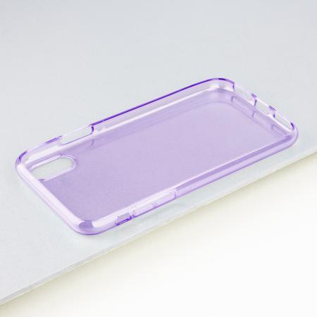 olixar flexishield iphone x gel case - purple