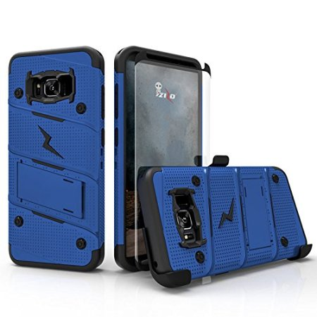 Zizo Bolt Series Samsung Galaxy Note 8 Tough Case & Belt Clip - Blue
