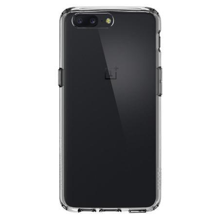 the latest 83d66 e30e4 Spigen Ultra Hybrid OnePlus 5 Case - Clear - Mobile Fun Ireland