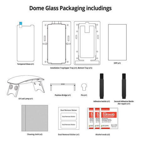 Whitestone Dome Glass Galaxy Note 8 Full Cover Screen Protector