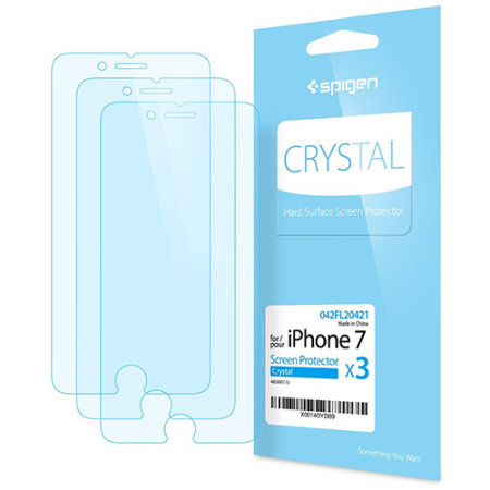 Spigen Crystal iPhone 8 / 7 Film Screen Protector - Three Pack