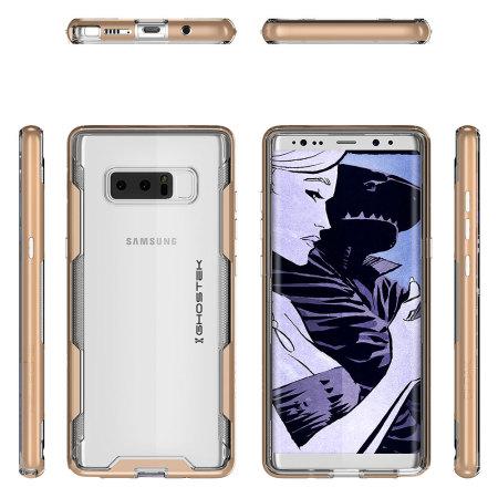 wholesale dealer e8cac ac16b Ghostek Cloak 3 Samsung Galaxy Note 8 Tough Case - Clear / Gold