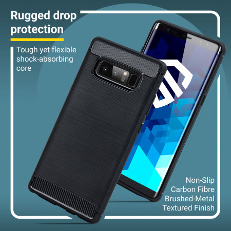 check out 93b3f 1bfb6 Olixar Sentinel Samsung Galaxy Note 8 Case and Glass Screen Protector