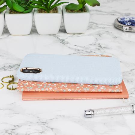 lovecases pretty in pastel iphone x denim design case - blue