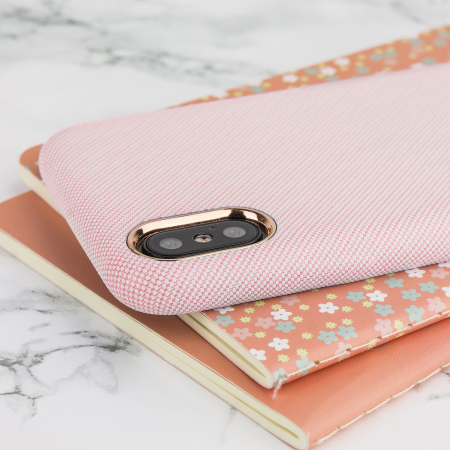 lovecases pretty in pastel iphone x denim design case - pink