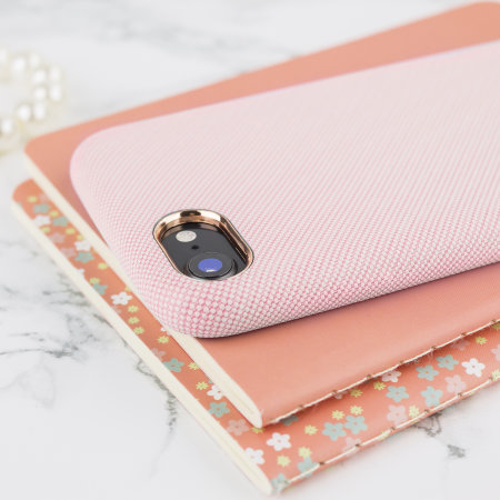 LoveCases Pretty in Pastel iPhone 8 Denim Design Case - Pink