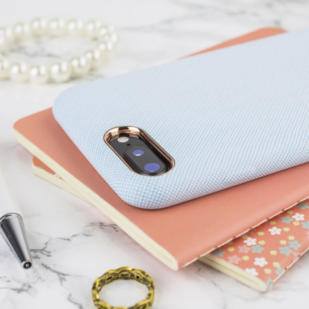 lovecases pretty in pastel iphone 8 plus denim design case - blue